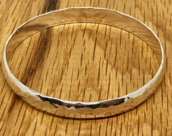 Thick silver bangle, Solid Sterling silver bangle, solid silver bangle, big bangle, wide bangle, silver bangle, statement bangle, hallmarked