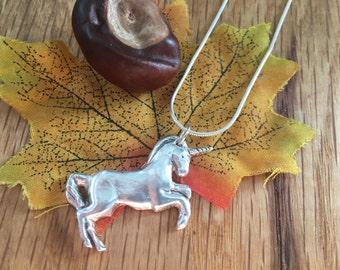 Magnificent Silver Unicorn necklace - Personalised Silver Unicorn - Personalised Unicorn Necklace - Present for her - Silver Unicorn