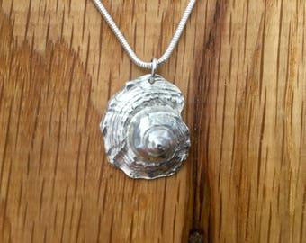Silver Shell pendant, Pure silver shell, Sea shell necklace, shell necklace, Sea shell jewellery, sea, shell, jewellery, silver, seashell