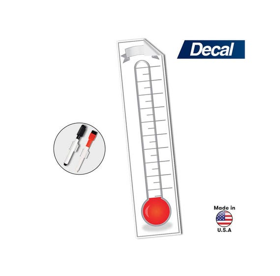 Goal Setting Fundraising Thermometer Chart 48 X