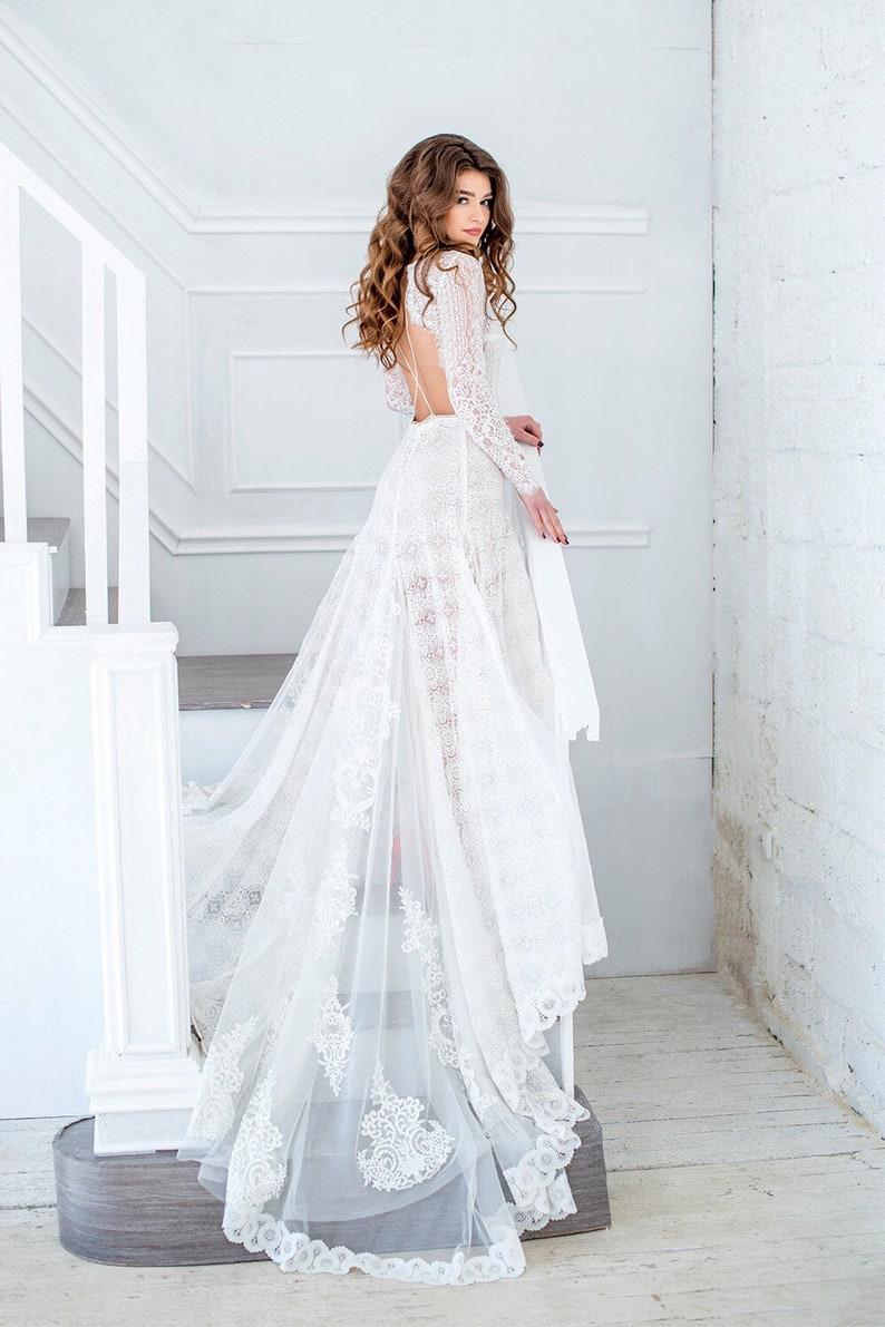 19d02d7ba3d Amazing Long Sleeve bohemian wedding dress boho wedding