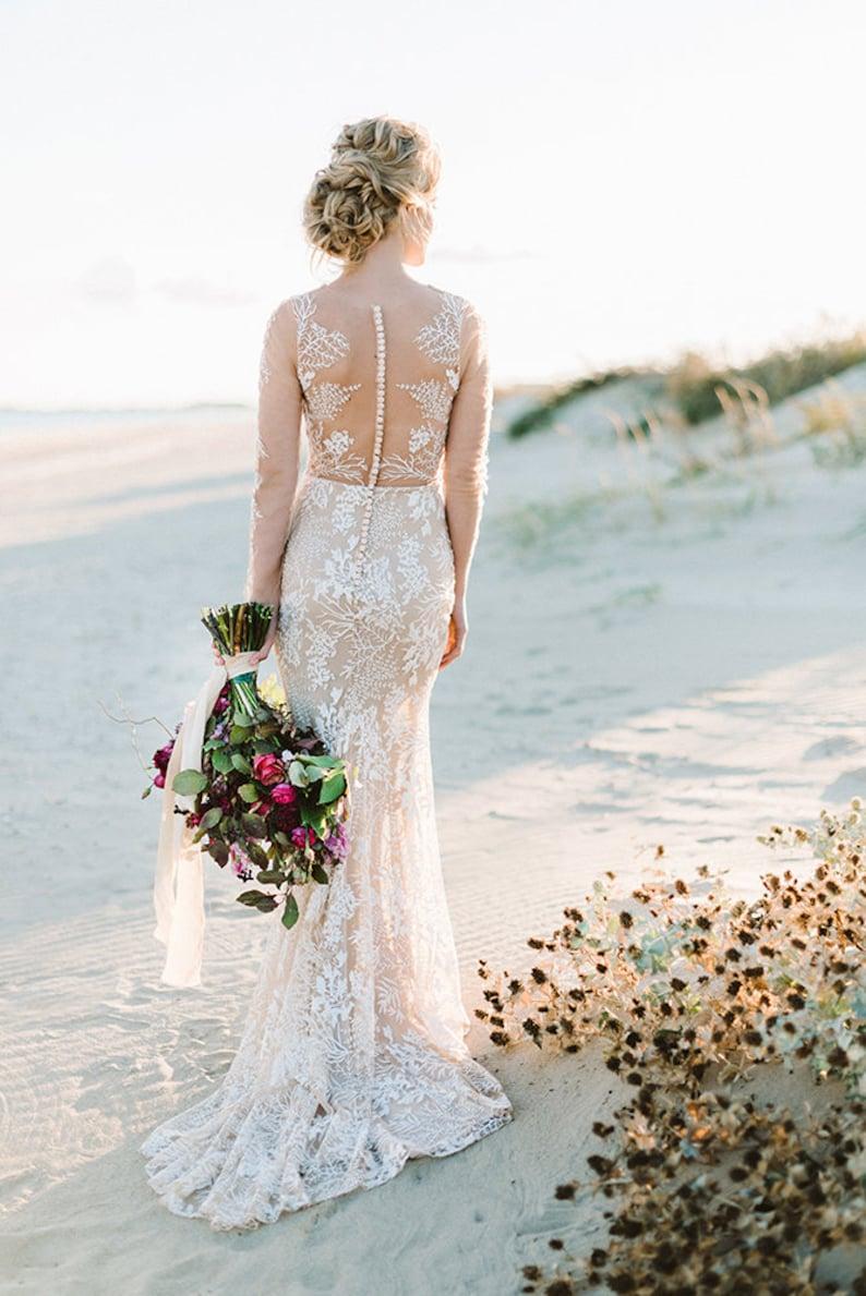 wedding dress boho wedding dress bohemian dress wedding image 6