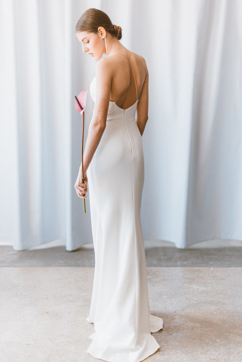 Simple Wedding Dress // Simple sleeveless wedding dress // image 6