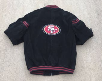 Vintage San Francisco 49ers Jacket Coat (Sz Large) Vintage Pro Player Jacket  Vintage Bomber Jacket 90s San Fran Jacket ed30bbd083