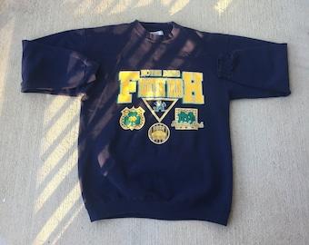 Vintage 80's 90's Notre Dame crewneck football | Etsy