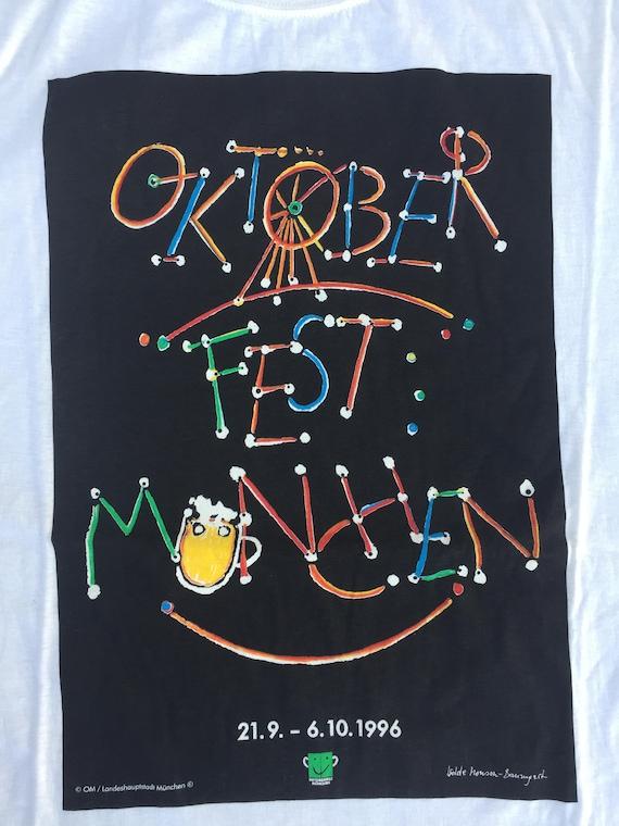 1996 l'Oktoberfest T-Shirt XL) (taille XL) T-Shirt Allemagne bière irlandaise Berlin Halloween Vintage Oktober Fest Beer T-Shirt des années 90 bière allemande chemise Vintage 7cf947