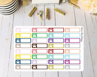 Paw Print Planner Stickers for Erin Condren, Happy, Plum and Recollection Planners