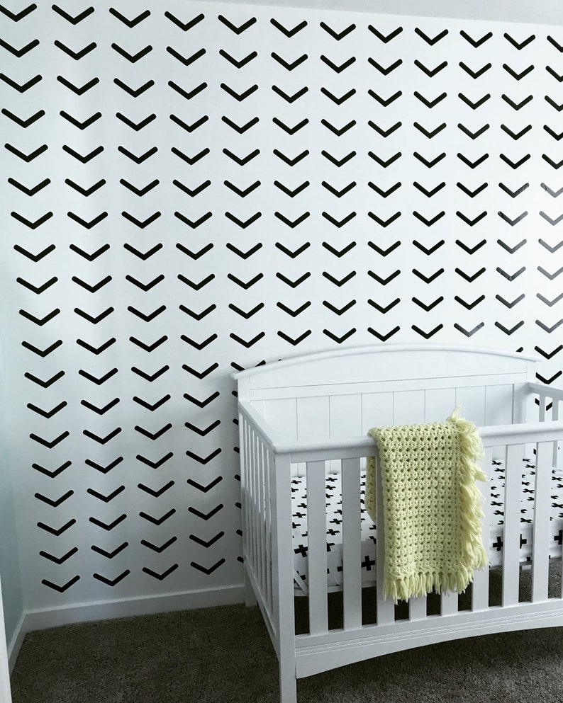 Chevron Arrows Wall Vinyl Wallpaper Wall Decor Home Decor Nursery Kids Room Decor