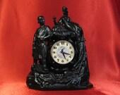 Vintage Table Tank Clock MANTEL, Mistress of Copper Mountain, Fireplace Soviet Home Decor USSR