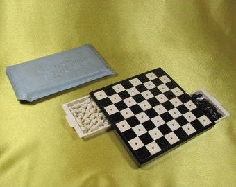 Vintage Soviet Set of road Game Chess USSR 2
