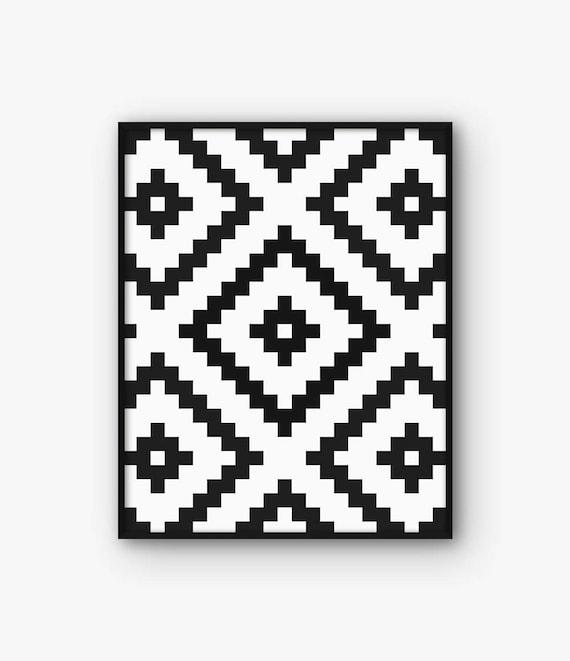 Ikat Druck Ethno Print Ikat Muster Azteken Drucken   Etsy