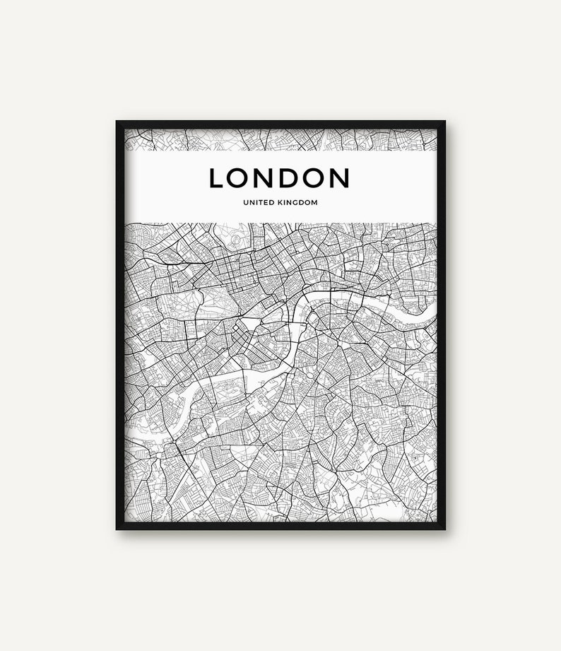 London Map Printable.London Map Print London Poster London Wall Art London City Etsy