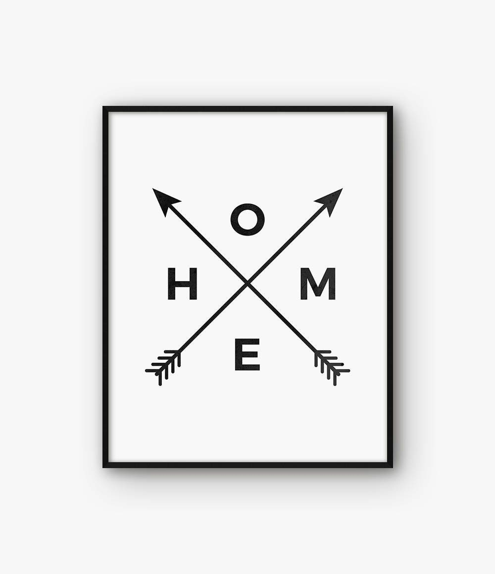 graphic relating to Arrow Printable named House Arrow Print, Household Print, Household Arrow Wall Artwork, Residence Arrow Poster, Black and White Dwelling Printable, Tribal Arrow Print, Bed room Print,