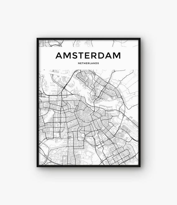 photograph relating to Printable Map of Amsterdam called Amsterdam Map Print, Amsterdam Print, Amsterdam Poster, Amsterdam Wall Artwork, Amsterdam Decor, Amsterdam Metropolis Map Print, Netherlands Print