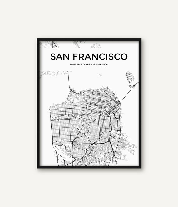 San Francisco Map Print, San Francisco Print, San Francisco Wall Art, on san francisco street parking map, san francisco attractions, san francisco haight-ashbury 60s, san francisco 1800s, venice street map print, london street map print, san francisco beaches swimming, key west street map print, san francisco cable car routes, san francisco 1915, san francisco street car map,