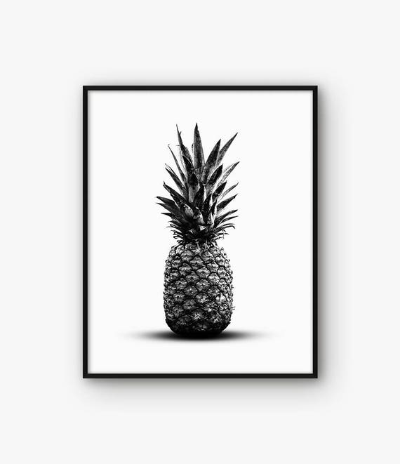 Kitchen Print Pineapple Poster Kitchen Decor Pineapple | Etsy