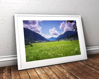 Nature, Austria, mountains, forest, photo, poster, download, instant download,