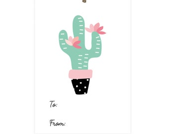 Cactus Gift Tags Digital Download | Printable | Birthday Tags