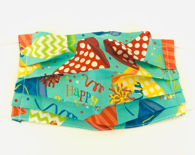 Face Mask,Happy Birthday Face Mask, Reusable Face Mask, Washable Face Mask, Adult Face Mask, Made in USA, Cotton face mask