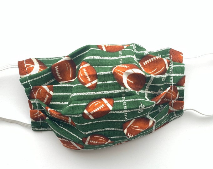 Face Mask, Football Face Mask, Reusable Face Mask, Washable Face Mask, Adult Face Mask, Made in USA, Cotton face mask