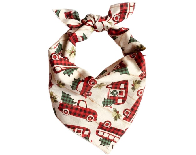 Dog Christmas Bandana, Holiday Dog Bandana, Fun Dog Bandana, Dog Scarf, Holiday Picture Dog Bandana