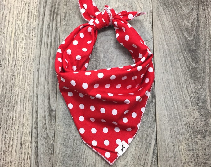 Polka Dot Pop - Red PD Dog Bandana