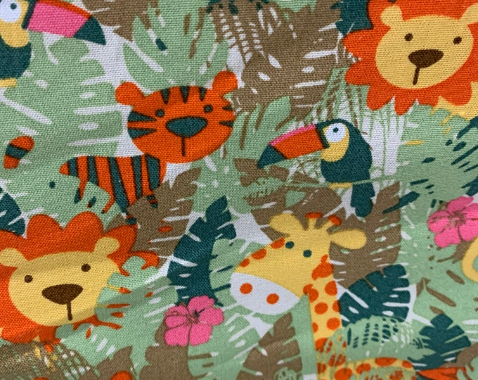 Animal Dog Bandana, Jungle Dog Bandana, Tropical Jungle Dog Bandana, Dog Scarf