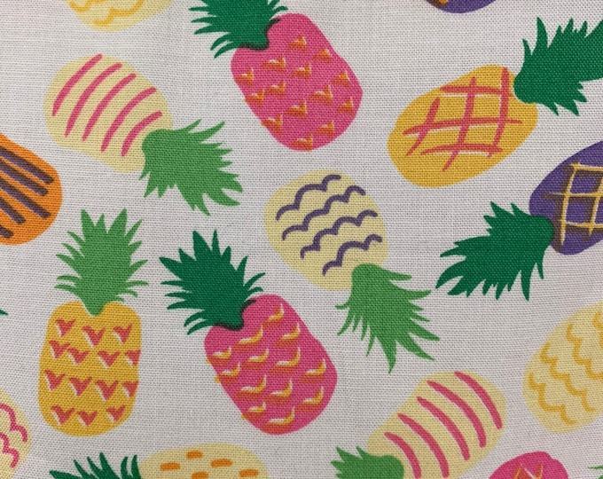 Colorful Pineapple Dog Bandana, Fruit Dog Bandana, Pet Bandana, Colored Fruit Dog Bandana, Dog Scarf