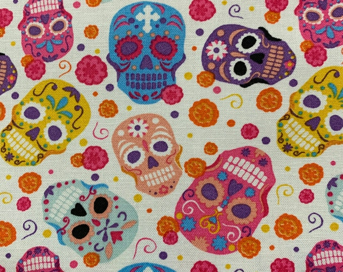 Colored Skull Bandana,Skull Dog Bandana, Pet Bandana, Fun Dog Bandana, Dog Scarf, Dog Bandana