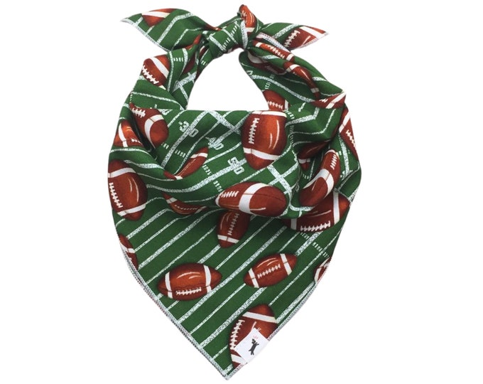 Football Dog Bandana, Football Bandana, Pet Bandana, Sport Dog Bandana, Tie On Bandana