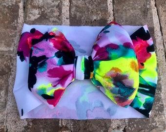 Multi colored Floral Headwrap