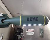 WW2 Replica bomb ACME pool table light