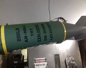 WW2 Pool Table Replica Bomb Light/work bench light