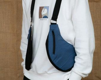 Cartucheras Festival model VIETNAM shoulder holster bag waist pouch utility belt cotton sling bag / Adjustable Straps / Hand made
