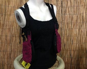 Holster Festival Double shoulder holster bag Waist Pouch Utility Belt sling bag/Pink Print/adjustable strap/handmade/Unisex