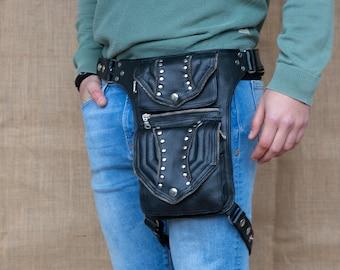 Kidney ARIZONA Pistol Hip Bag Hip Bag Festival Bag Leather Bag / Tied Leg / Adjustable Strap / Motard / Steampunk