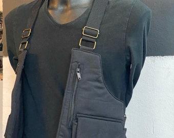 Festival cartridge cases model VIETNAM PLUS shoulder holster bag waist pouch utility belt cotton sling bag / Adjustable Straps / Hand made