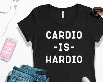 Gym shirt   cardio is hardio shirt   running marathon tank top   cardio tank   gym workout tank   fitness tank top   women's racerback tank