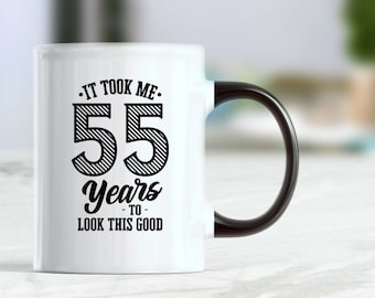 55th Birthday Mug Gift Ideas For Her Him Dad Mom Gifts Turning 55 Funny Present Custom
