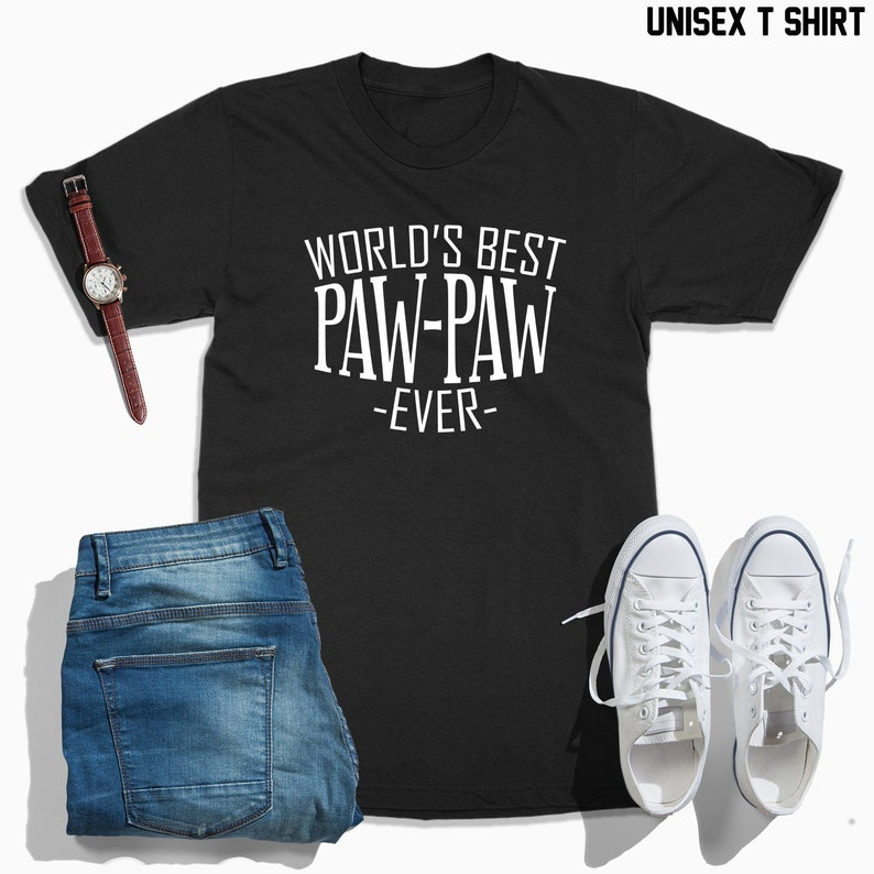 e27ac621 Worlds best paw paw ever paw paw shirt paw paw gift Fathers | Etsy