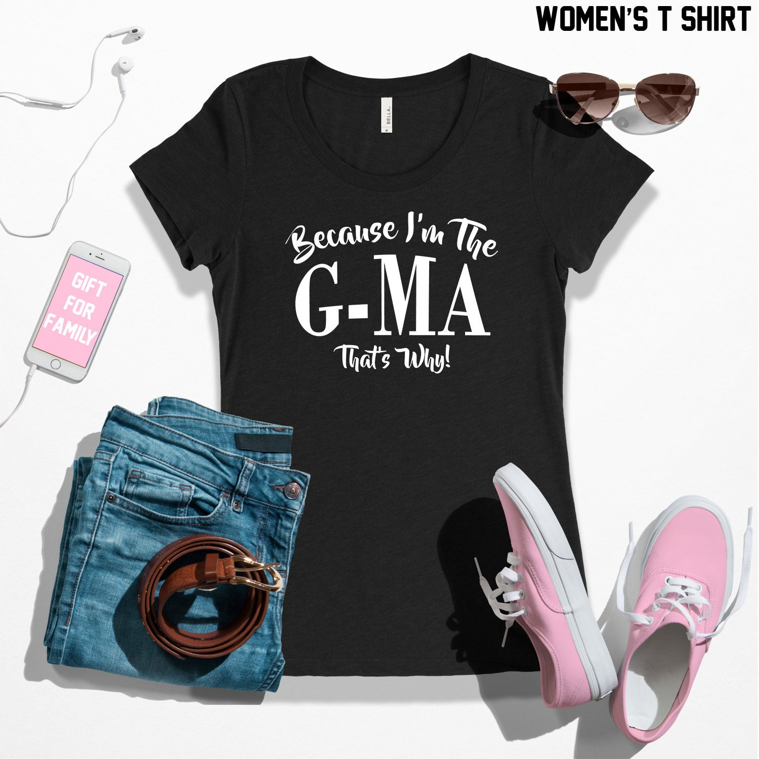 609dfb955 Because I'm the g-ma that's why t shirt grandma t | Etsy