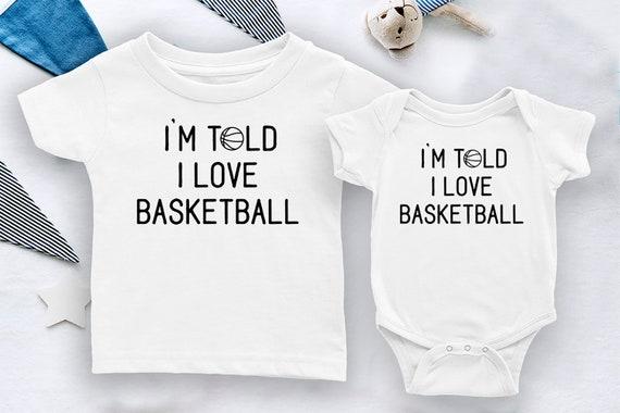Love Basketball Boys Suitable 100/% Cotton Bodysuit