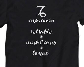 Capricorn shirt, Women's tee Capricorn zodiac sign, Astrology t shirt, Capricorn zodiac gift