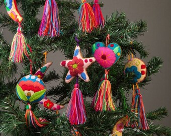 mexican ornaments christmas ornaments mexican christmas ornaments embroidered ornaments christmas tree ornamennt wholesale