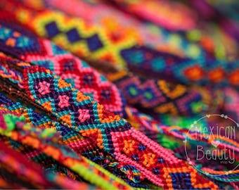 Friendship Bracelet Set / Summer Bracelet / Mexican handwoven bracelets / 1 cm / boho hippie / party favors / set of 12, 24, 50, 60 or 100