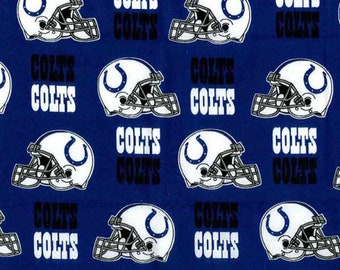 "Indianapolis Colts NFL Blue Fabric in various lengths by 59"" width"