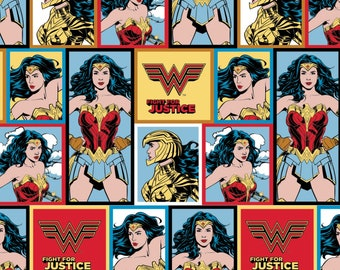 Pre-Order Wonder Woman 1984 Blocks Fabric by the yard and other various lengths (Pre-Order/Arrival July 1, 2020)