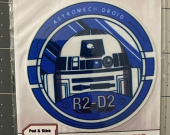 R2-D2 Patch, Star Wars Patch Adhesive Fabric 3in Patch Badge