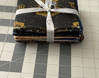Fantastic Beasts Fabric Fat Quarter Bundle 10pcs Camelot Fabrics