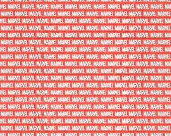 Marvel Brick Wall Logo By The Yard, Half Yard or other various lengths